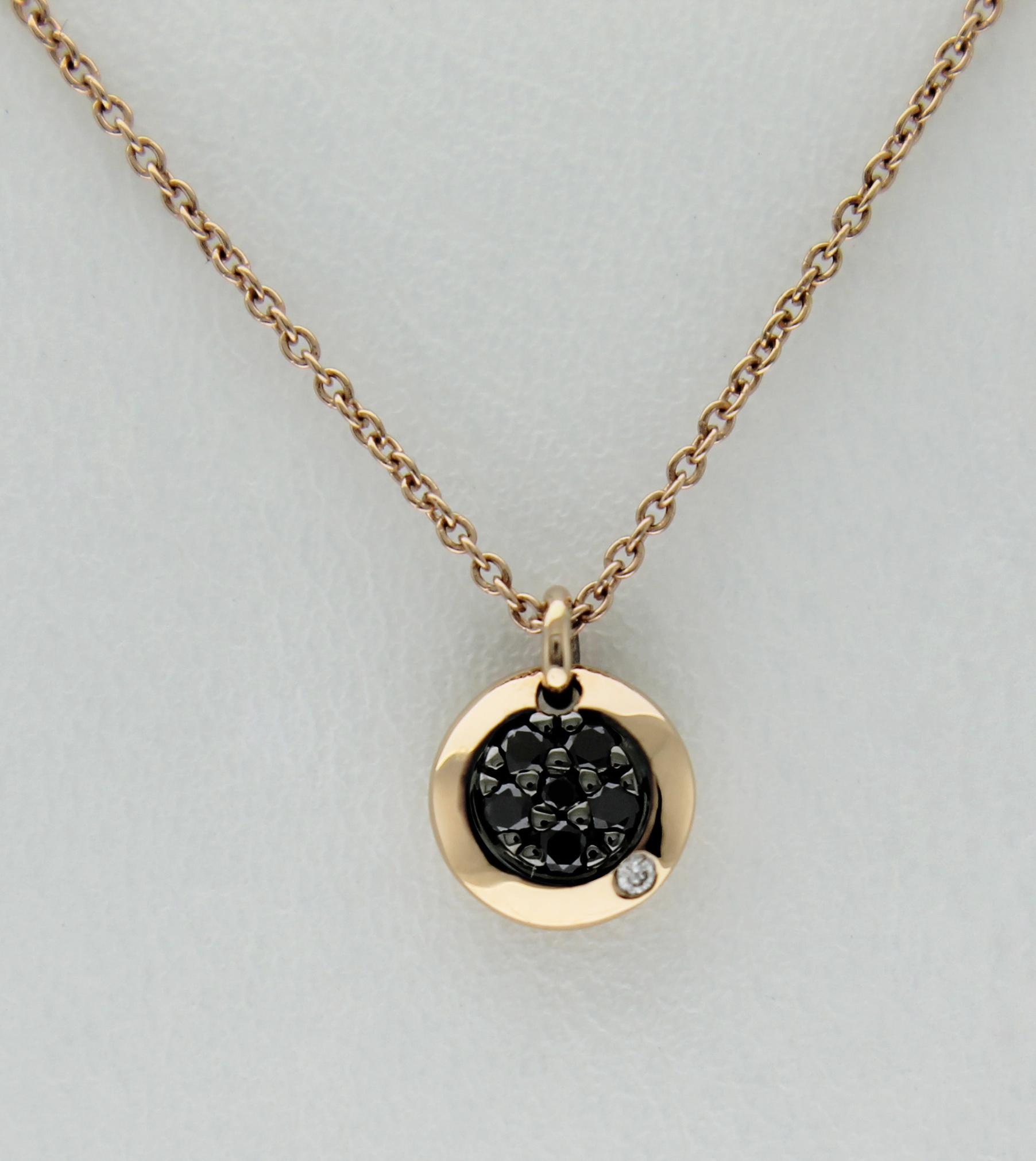 marchio popolare A basso prezzo ricco e magnifico Punto luce Casavola oro rosa diamanti neri - Casavola ...