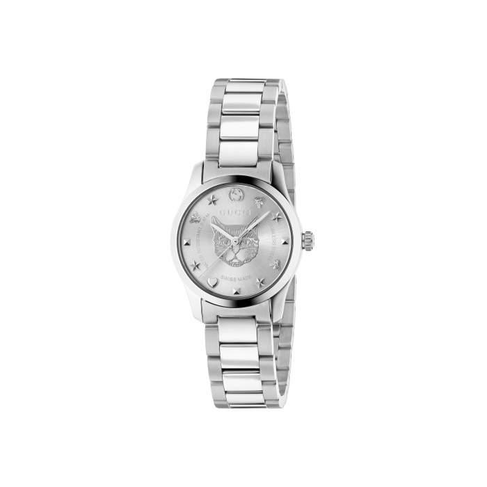 Gucci G-Timeless YA126595 - Orologio donna acciaio piccolo - Gioielleria Casavola Noci - idee regalo natale
