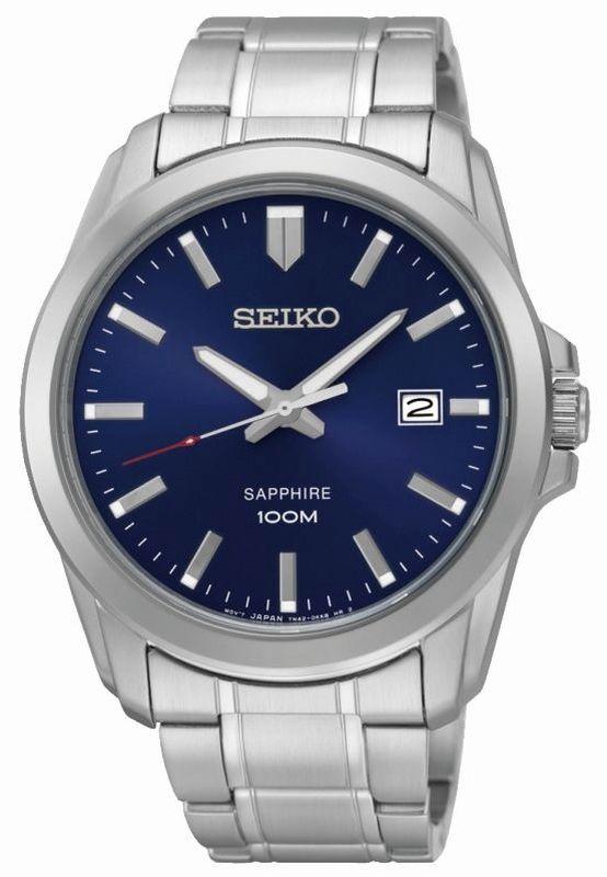 Seiko Classic Quartz SGEH47P1 - Orologio uomo elegante acciaio quadrante blu - Casavola Noci