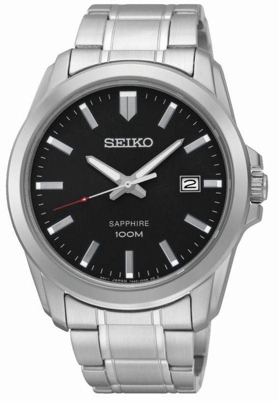 Seiko Classic Quartz SGEH49P1 - Orologio uomo acciaio quadrante nero - Casavola Noci