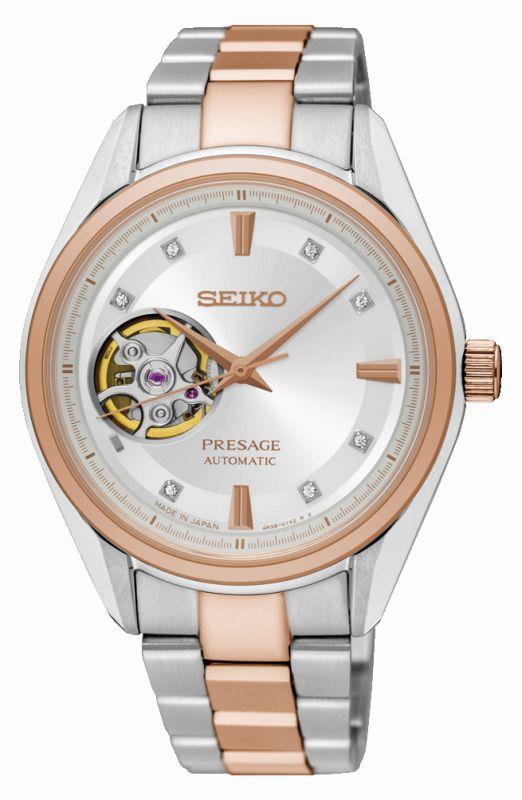 Seiko Presage Donna SSA810J1 - Orologio acciaio oro rosa quadrante scheletrato - Casavola Noci