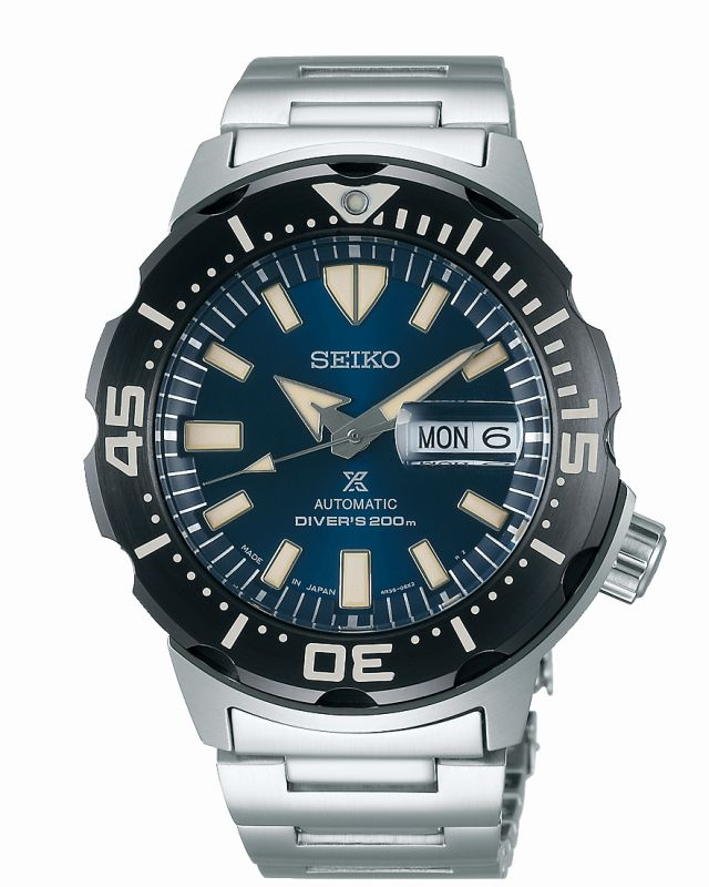 Seiko Prospex Monster SRPD25K1 - Orologio sportivo uomo acciaio - Casavola Noci