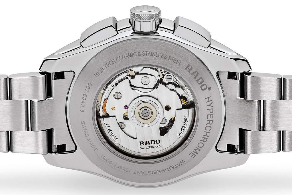 Rado Hyperchrome Automatic R32042153 - Cronografo uomo acciaio svizzero movimento - back orologio - Casavola Noci
