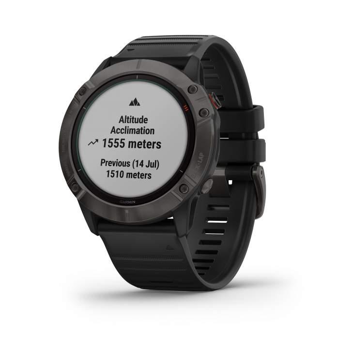 Garmin Fenix 6XPro Solar - smartwatch GPS multisport - acclimatazione trekking - Gioielleria Casavola Noci