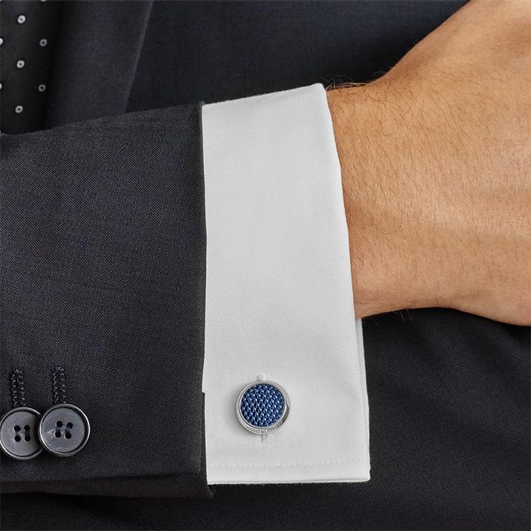 Gemelli camicia Montblanc 112904 polsino francese - indossato - Casavola - Gioiellieri dal 1882 - Noci