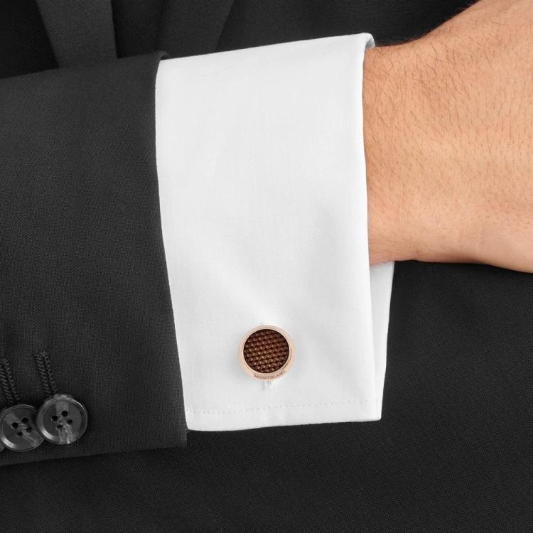 Gemelli camicia Montblanc 118603 polsino francese - indossato - Casavola - Gioiellieri dal 1882 - Noci