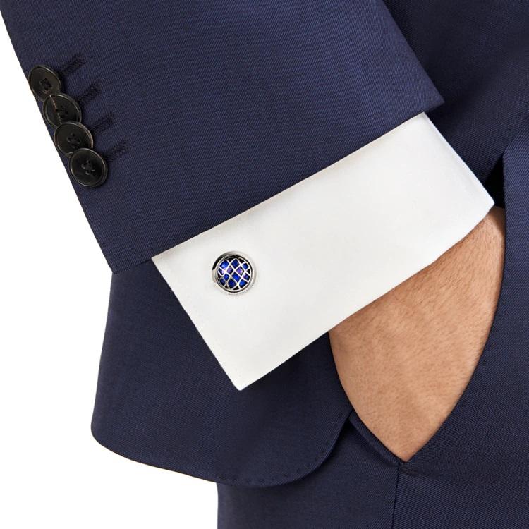 Gemelli camicia Montblanc 123801 polsino francese - indossato - Casavola - Gioiellieri dal 1882 - Noci