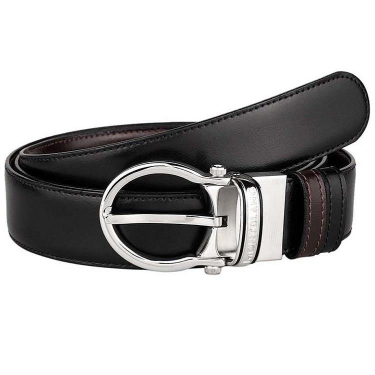 Montblanc cintura elegante 105123 pelle acciaio - Casavola - Gioiellieri dal 1882 - Noci