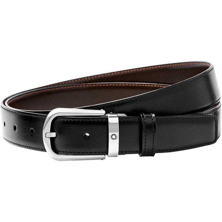 Montblanc cintura elegante 114412 Pelle uomo nero marrone - Casavola - Gioiellieri dal 1882 - Noci