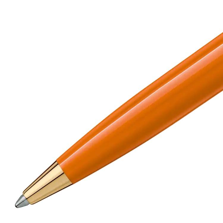 Pix Montblanc penna sfera arancio 119903 - Pregiata Resina Oro Giallo - Gioielleria Casavola Noci - detail