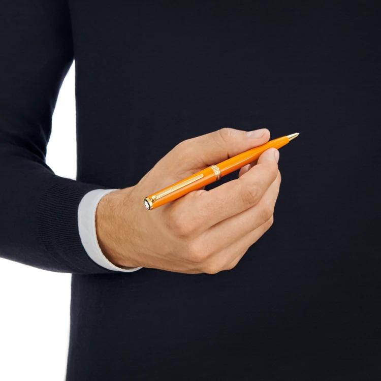 Pix Montblanc penna sfera arancio 119903 - Pregiata Resina Oro Giallo - Gioielleria Casavola Noci - tryon