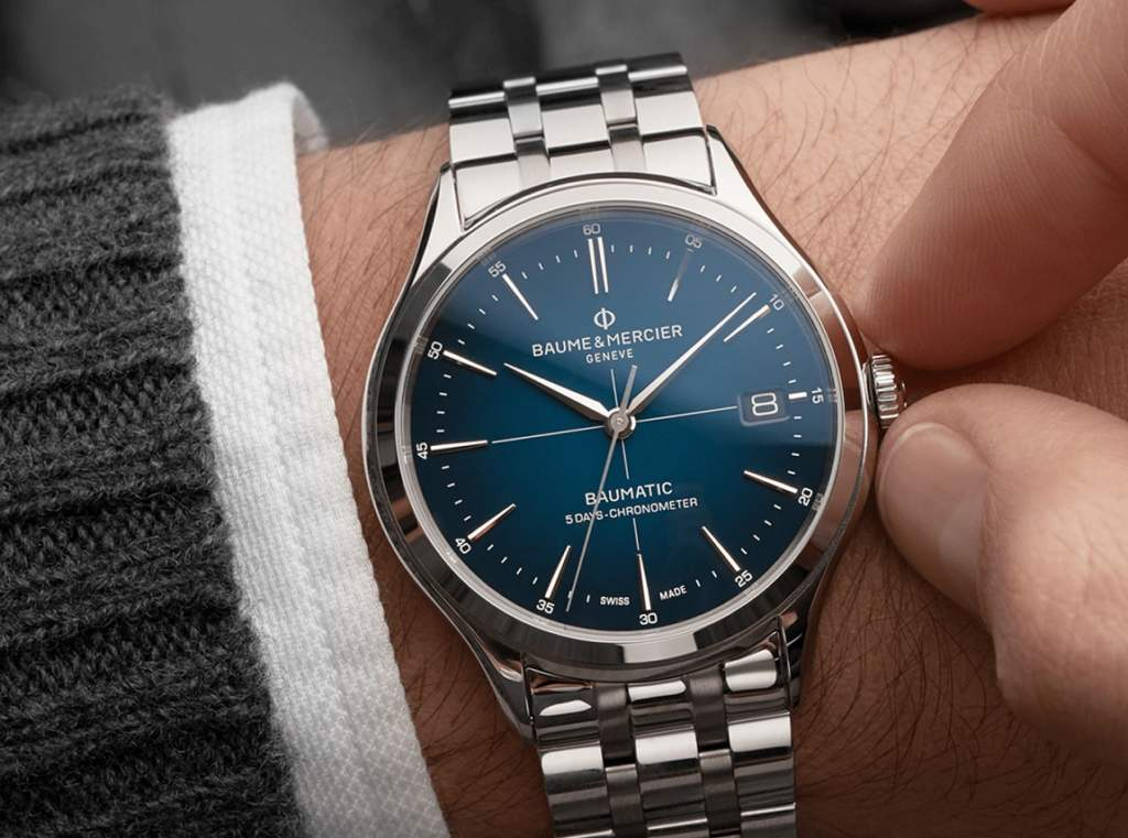 Baume et Mercier Clifton Baumatic 10468 - orologio indossato con corona - Casavola Noci - Promo