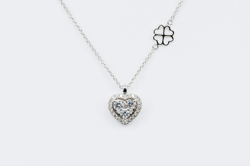 Collana Hearts Liberty White - Gioielleria Casavola Noci - Idea regalo anniversario importante donna