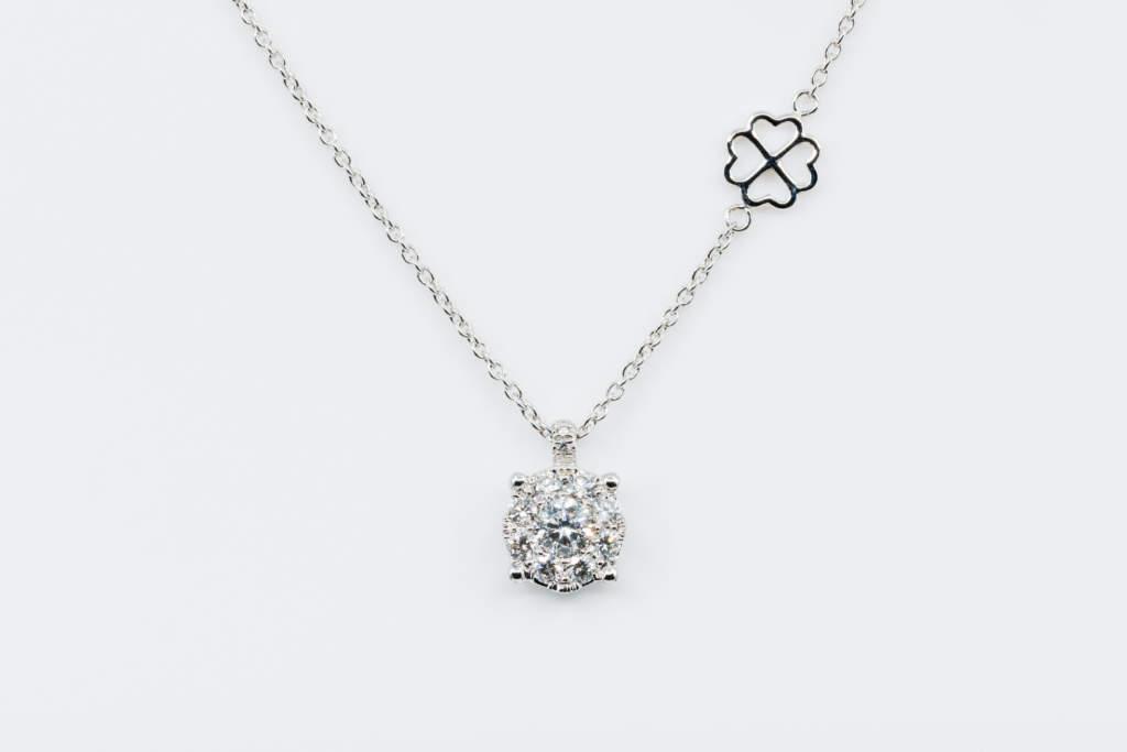 Collana Invisible oro bianco diamanti - Gioielleria Casavola Noci - idea regalo anniversario donna