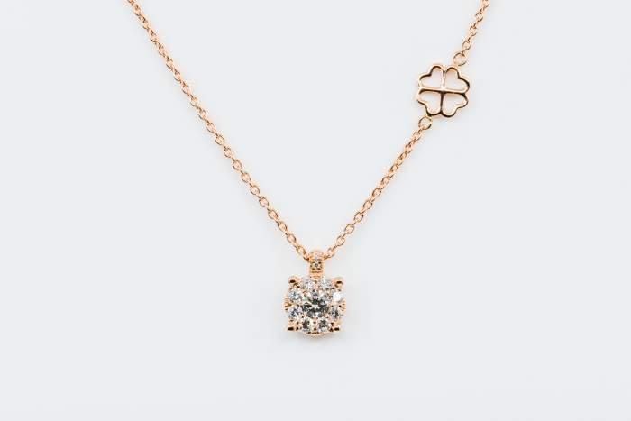Collana Invisible oro rosa - idea regalo anniversario matrimonio - testimoni nozze - Gioielleria Casavola Noci