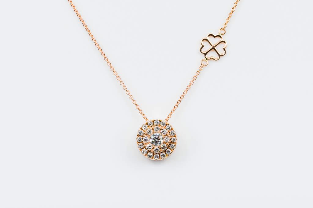 Collana Invisible tonda diamanti white - Gioielleria Casavola Noci - idea regalo testimoni nozze - donna matrimonio sposa
