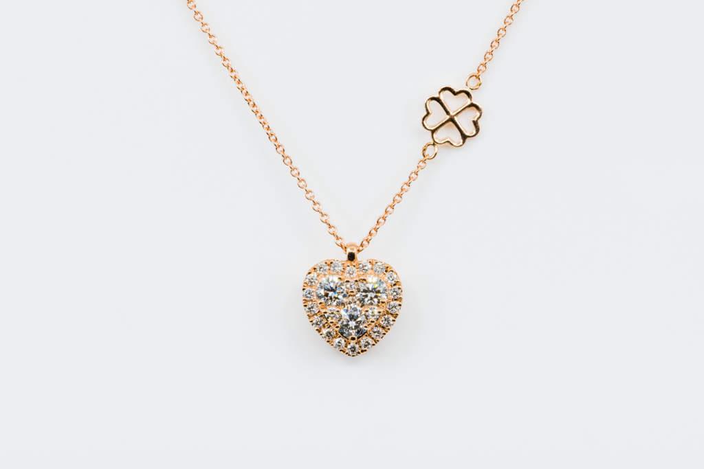 Collana cuore Liberty Rose - Gioielleria Casavola Noci - Idea regalo anniversario matrimonio