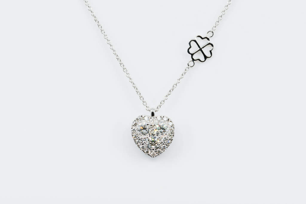 Collana cuore Liberty White - Gioielleria Casavola Noci - Idea regalo laurea donna ragazza
