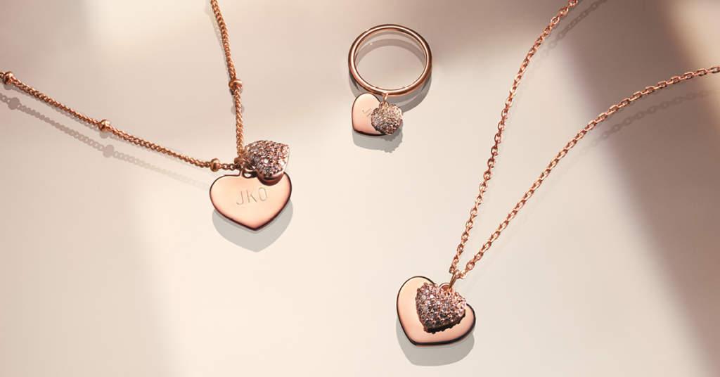 Gioielli color oro rosa a forma di cuore - Michael Kors - Casavola Noci