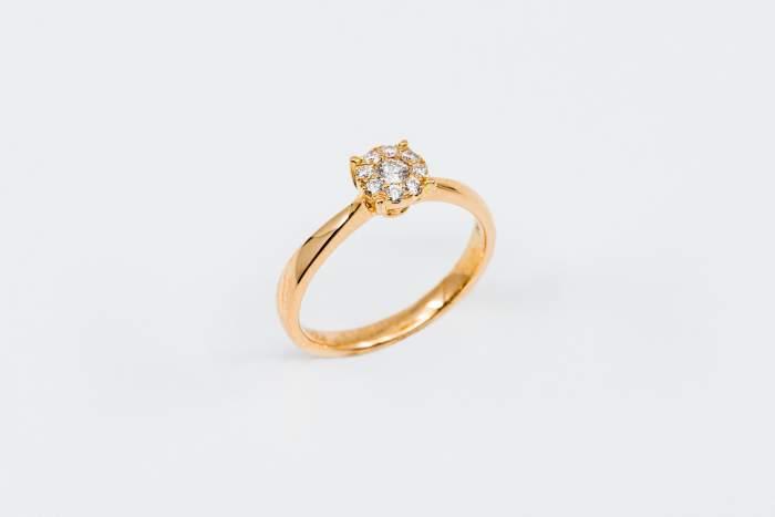 Anello Invisible diamonds rose - Gioielleria Casavola Noci