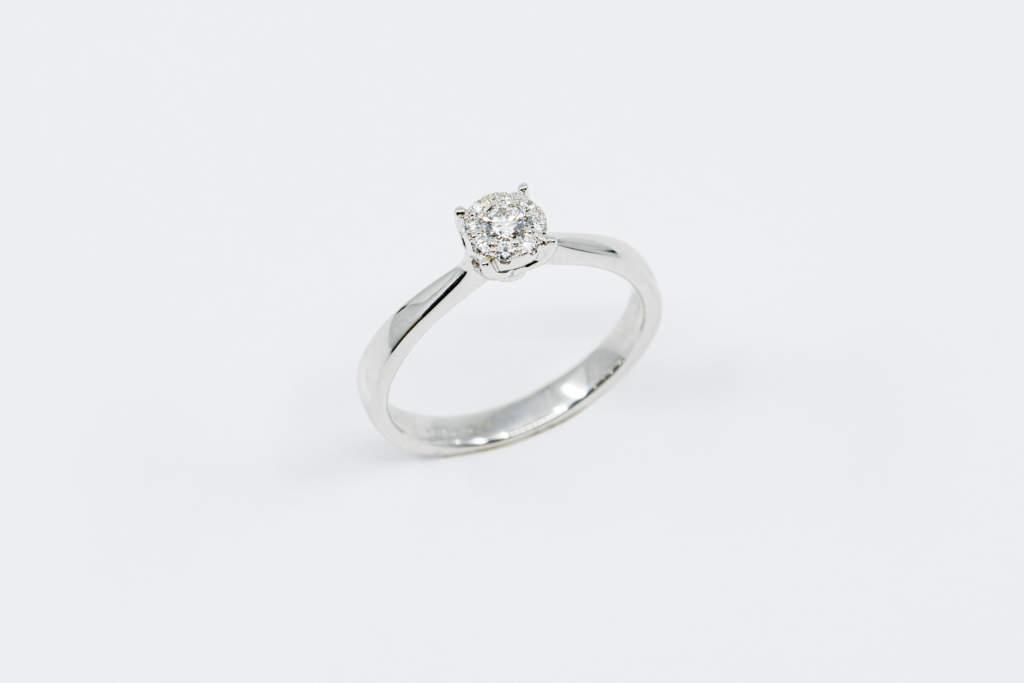 Anello Invisible diamonds white - Gioielleria Casavola Noci