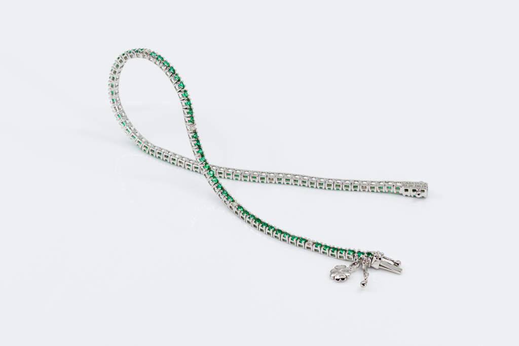 Bracciale tennis smeraldi e diamanti - Gioielleria Casavola Noci