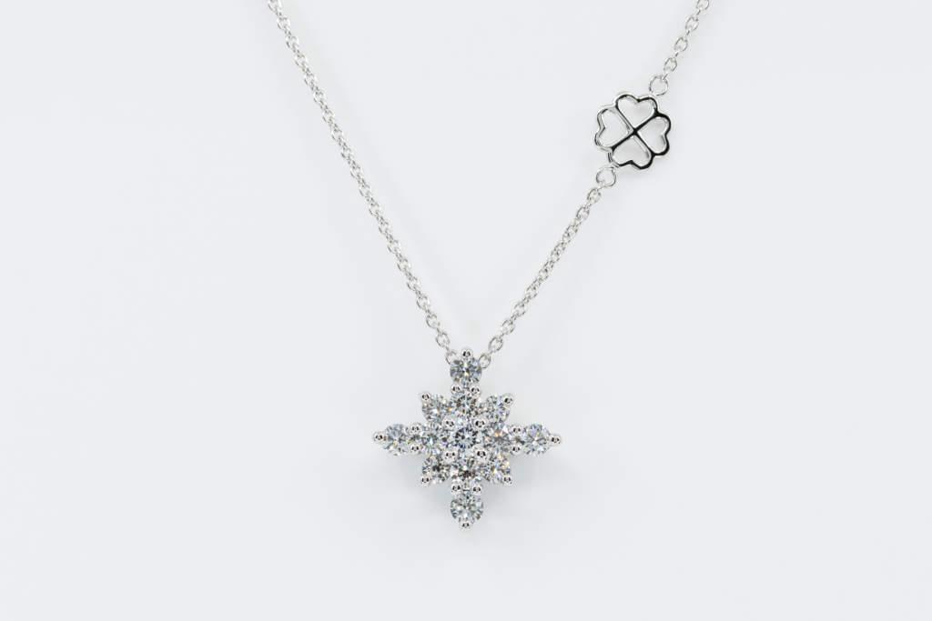 Collana Snowflake diamanti white - Casavola - Gioiellieri dal 1882 - Noci - Misura XL - Idea regalo donne