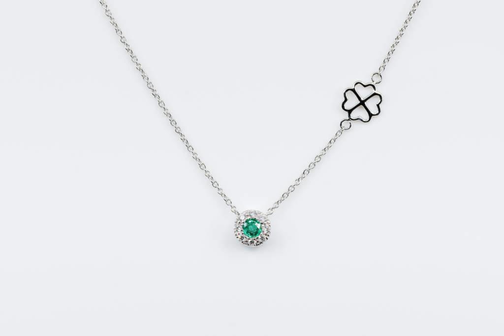 Collana Invisible Petite Émeraude - Gioielleria Casavola Noci - idea regalo fidanzata anniversario
