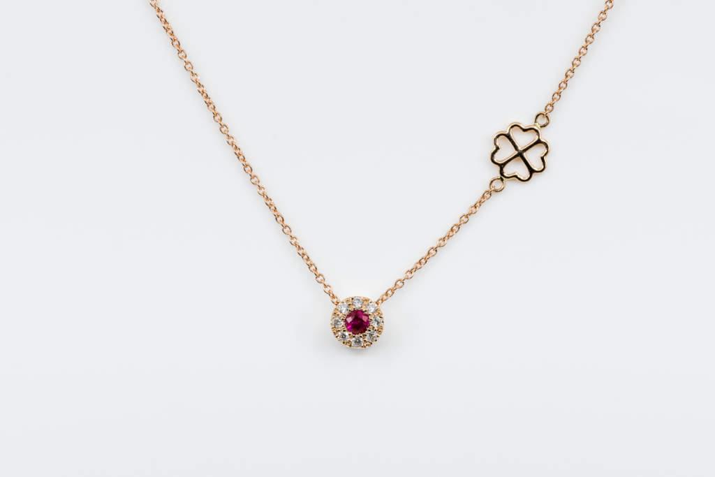 Collana Invisible Petite Rubis Rose - Idea regalo fidanzata oro rosa - Gioielleria Casavola Noci