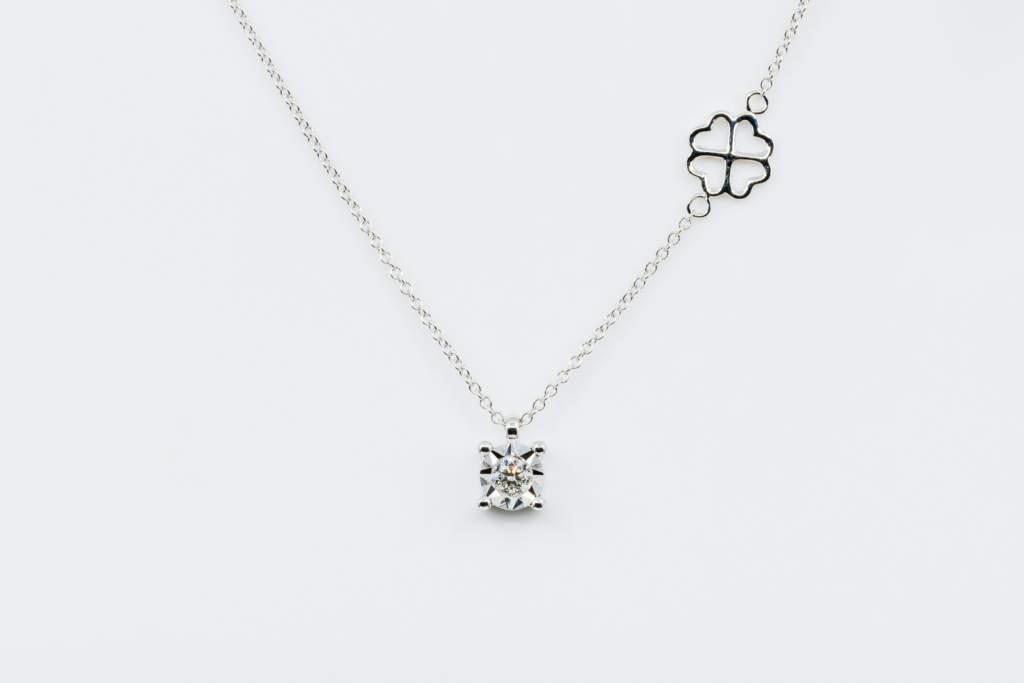 Collana punto luce diamante Starlight White - Gioielleria Casavola Noci - gioiello donne idea regalo compleanno - M