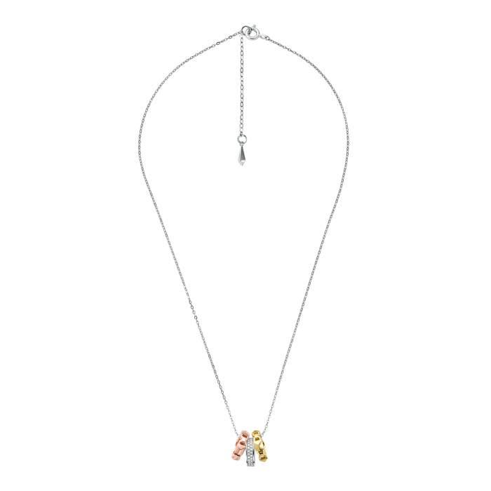 Michael Kors collana MKC1142AN998 - tre ori argento - idea regalo fidanzata moglie - Gioielleria Casavola Noci - lunga