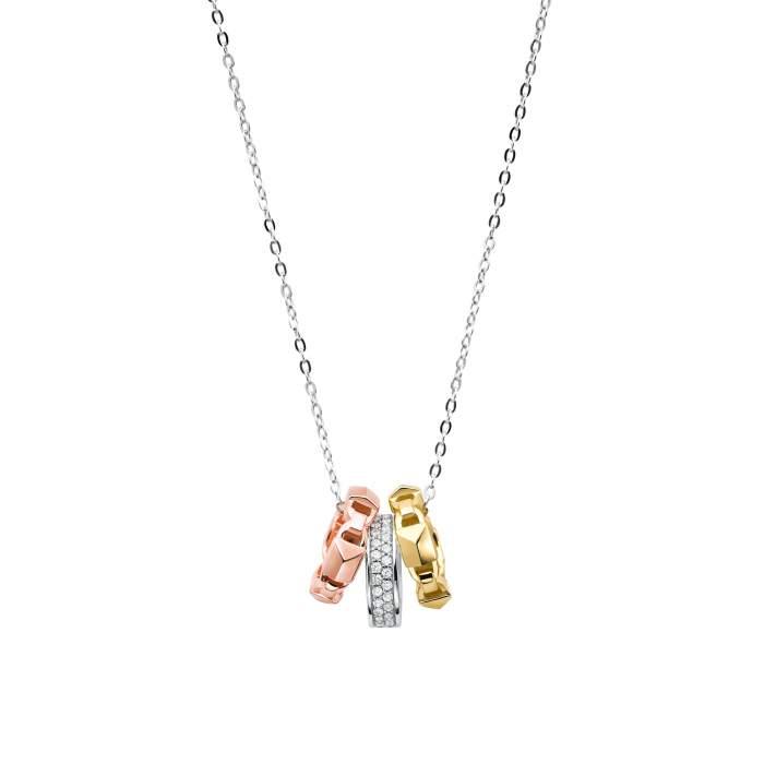Michael Kors collana MKC1142AN998 - tre ori argento - idea regalo fidanzata moglie - Gioielleria Casavola Noci - main