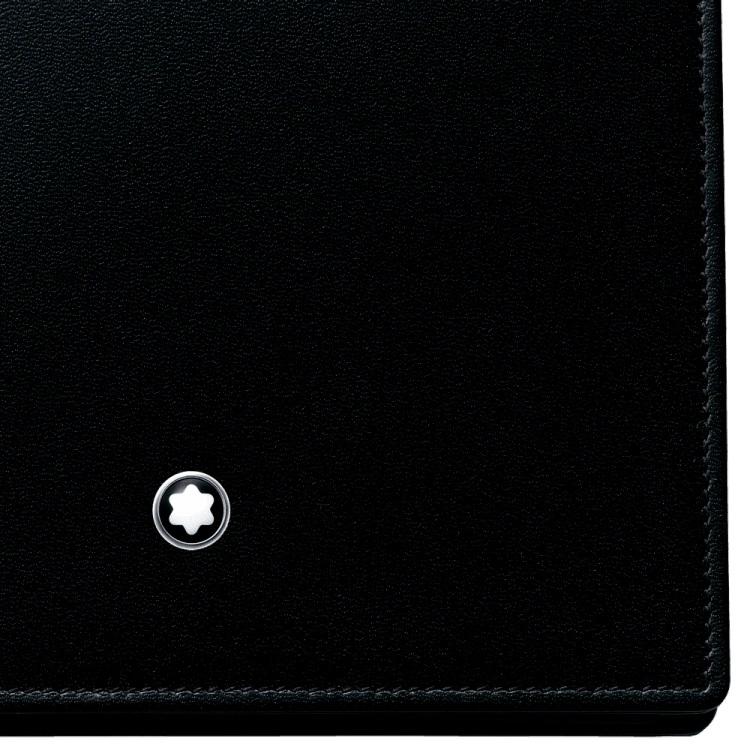 Montblanc portafogli Meisterstuck 103384 - Gioielleria Casavola Noci - idea regalo uomo pelle di vitello nero - dettaglio