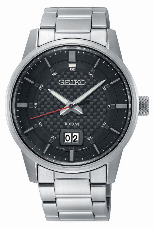 Seiko Sport Gran Data SUR269P1 - orologio uomo acciaio elegante - Gioielleria Casavola Noci