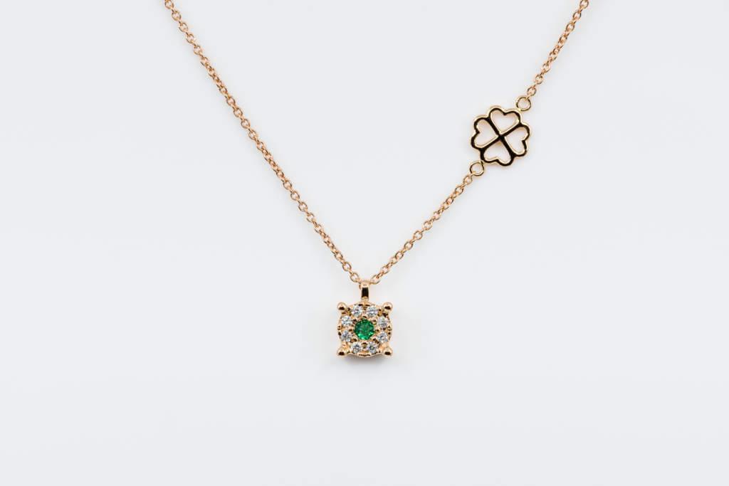 Collana Invisible Beau Émeraude Rose - Gioielleria Casavola Noci - idea regalo economico donna - San Valentino