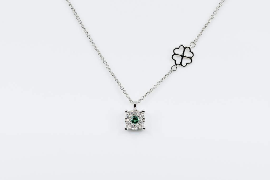 Collana Invisible Beau Émeraude White - Gioielleria Casavola Noci - idea regalo fidanzata - san valentino - natale