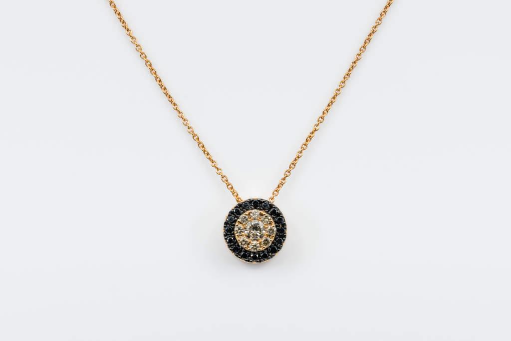 Collana Invisible tonda diamanti brown Rose - Gioielleria Casavola Noci - idea regalo uomo fidanzato di lusso - san valentino - natale