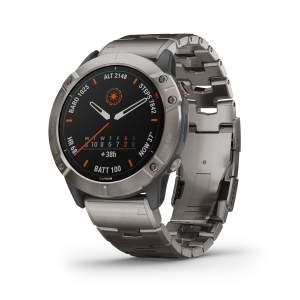 Garmin Fenix 6XPro Solar Titanium - Gioielleria Casavola Noci - front - smartwatch GPS titanio