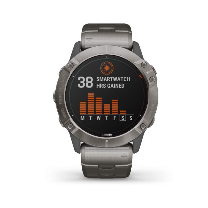 Garmin Fenix 6XPro Solar Titanium - Gioielleria Casavola Noci - main - smartwatch GPS multisport uomo