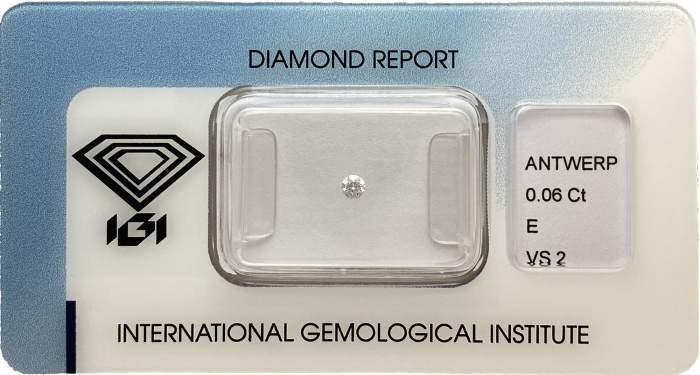 Diamante certificato IGI 0.06ct E VS2 - Gioielleria Casavola Noci - idee regalo investimento