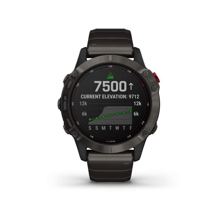 Garmin Fenix 6 Pro Solar Titanium GPS Pulsossimetro Saturimetro - Gioielleria Casavola Noci - Main Front
