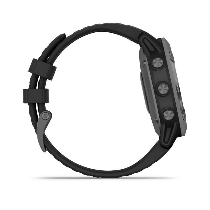 Garmin Fenix 6 Pro Solar slate gray cinturino black - Gioielleria Casavola Noci - smartwatch GPS multisport - pulsanti laterali