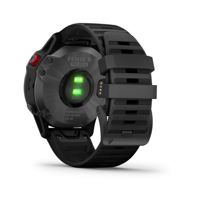 Garmin Fenix 6 Pro Solar slate gray cinturino black - Gioielleria Casavola Noci - smartwatch GPS multisport - pulsossimetro saturimetro