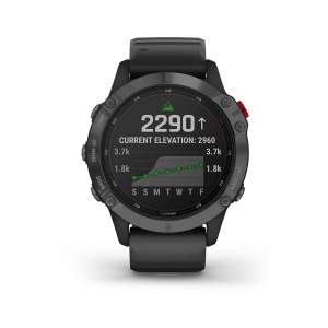 Garmin Fenix 6 Pro Solar slate gray cinturino black - Gioielleria Casavola Noci - smartwatch GPS per sportivi - front main
