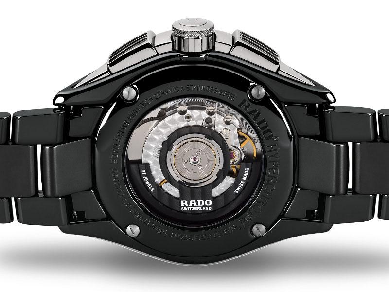 Rado Hyperchrome R32121152 orologio ceramica - cronografo automatico uomo - Gioielleria Casavola Noci - back