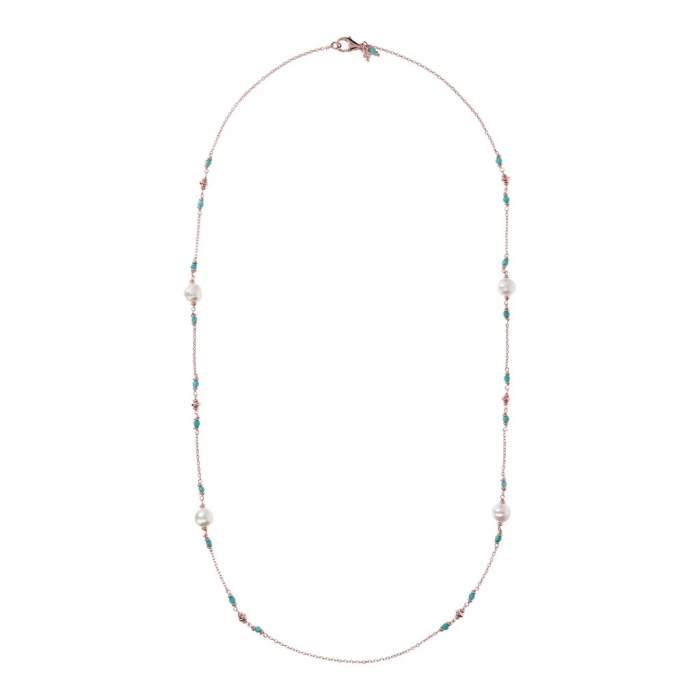 Collana perle Bronzallure WSBZ01361AZPRL idea regalo donna compleanno - Gioielleria Casavola Noci - intera