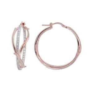 Orecchini cerchio Bronzallure WSBZ00834WR idea regalo donne fidanzata compleanno - Gioielleria Casavola Noci - dettaglio