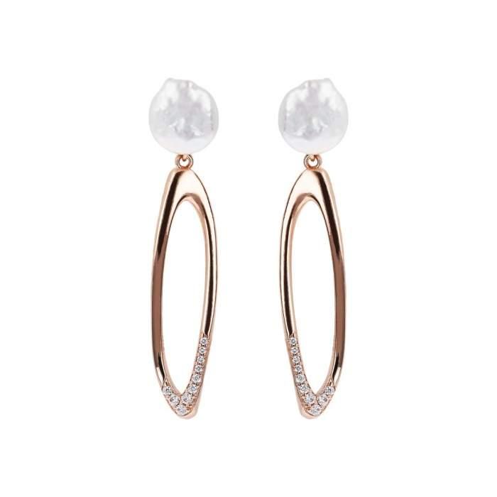 Orecchini perla Bronzallure WSBZ01488W idea regalo donna compleanno - Gioielleria Casavola Noci - main