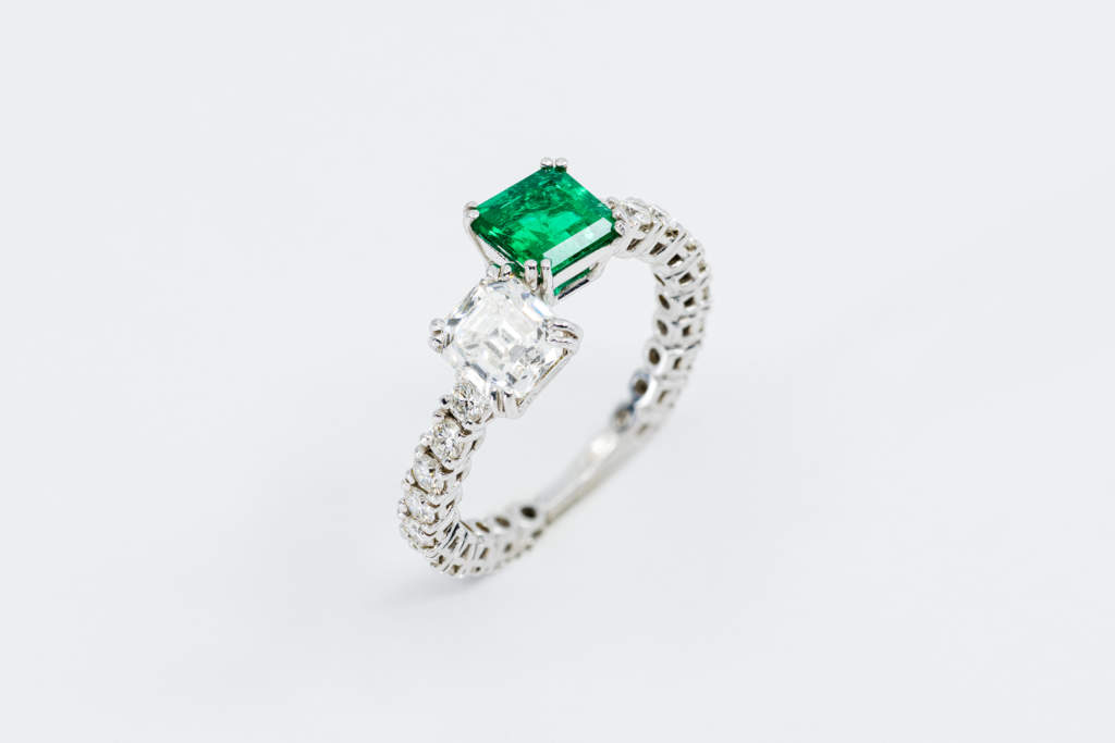 Girodito smeraldo Toi et Moi Prestige - Gioielleria Casavola Noci - idee regalo donne matrimonio anniversario compleanno