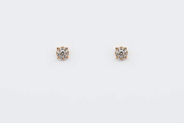 Orecchini Invisible oro rosa misura media - Gioielleria Casavola Noci - idee regalo compleanno fidanzata